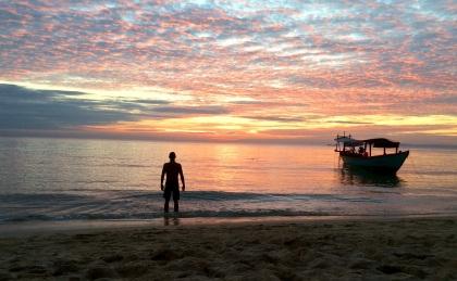 Javier Rocha en Otres Beach (Camboya)